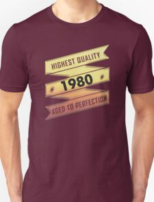 Highest Quality 1980 Aged To Perfection T-Shirt