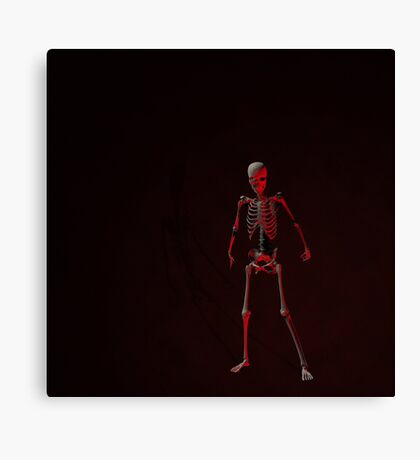 Standing Skeleton Canvas Print