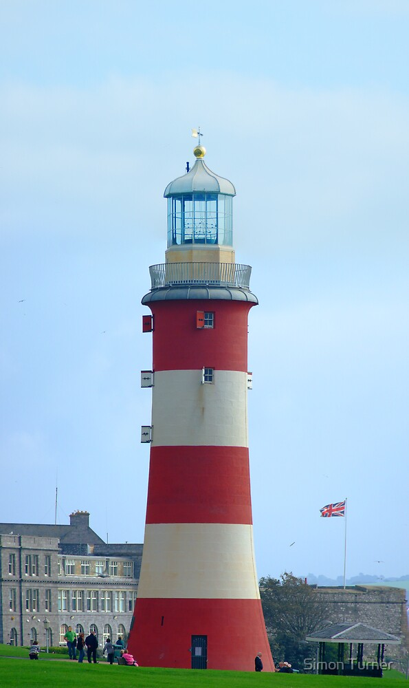 """Lighthouse on the """"Hoe"""" of Plymouth by Simon Turner"""