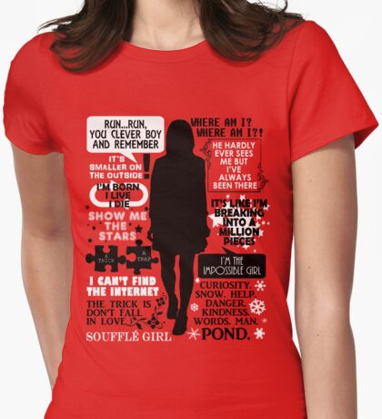 Doctor Who - Clara (Oswin) Oswald Quotes Womens Fitted T-Shirt