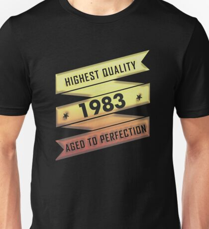 Highest Quality 1983 Aged To Perfection Unisex T-Shirt