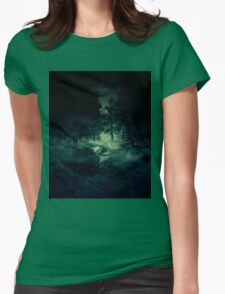 Twilight forest Womens Fitted T-Shirt
