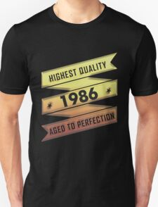 Highest Quality 1986 Aged To Perfection T-Shirt