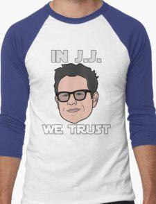 In J.J. We Trust - Bobble Head Men's Baseball ¾ T-Shirt