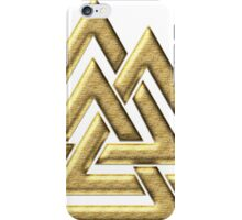 Walknut / Valknut - Wotan's Knot / Odins Knot iPhone Case/Skin