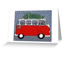 Bringing Home the Christmas Tree Greeting Card