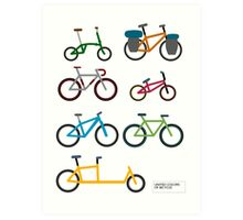 UNITED COLORS OF BICYCLES. Art Print