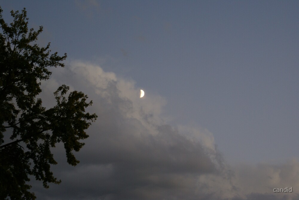 Moon over storm by candid