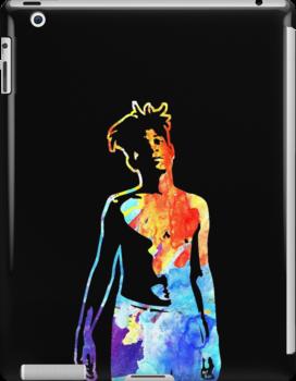 Jean-Michel Basquiat Splatter  by Celticana