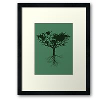 Earth tree *dark green edition Framed Print
