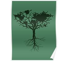 Earth tree *dark green edition Poster