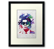 Jean-Michel Basquiat Splatter 2 Framed Print