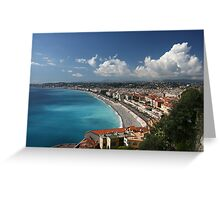 Nice Cote d'Azur Greeting Card