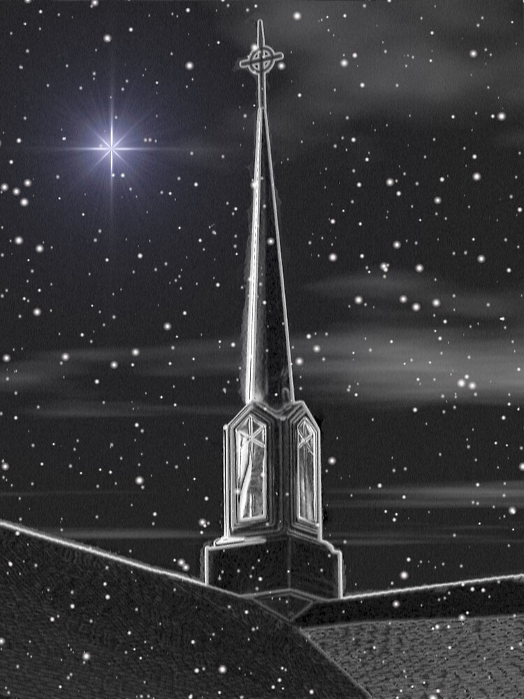 Steeple in Snow by Wendy J. St. Christopher