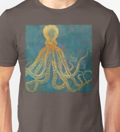 Deep Sea Life II Golden Octopus, marine texture Unisex T-Shirt