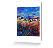 gendron blue poppies  Greeting Card