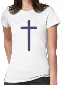 Jesus cross Womens Fitted T-Shirt