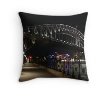Bridge by night Throw Pillow