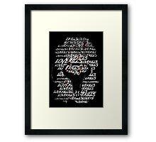 Love Kills Framed Print