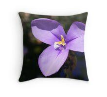 Pruple iris (Native W.A.) Throw Pillow