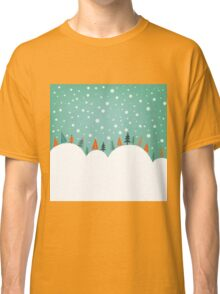 Snowy Holiday Hill Classic T-Shirt