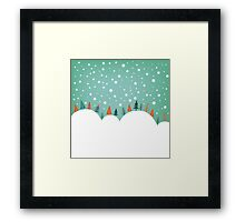 Snowy Holiday Hill Framed Print