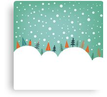 Snowy Holiday Hill Canvas Print