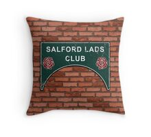 The Smiths Salford Lads Club Throw Pillow