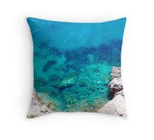 Into the blue... Throw Pillow