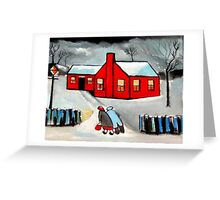Little red house (from my original acrylic painting) Greeting Card