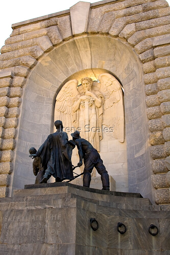 War Memorial Angel and Soldiers by Irene Scales