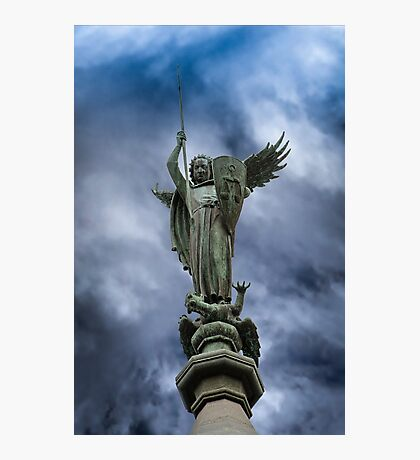 Saint Michael, The Nidaros Cathedral in Trondheim, Norway. Photographic Print