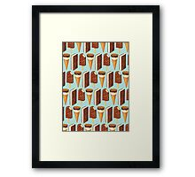 Ice Cream Novelties Pattern Framed Print