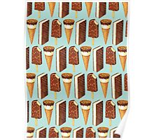Ice Cream Novelties Pattern Poster