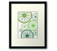 DRIVE GREEN Framed Print