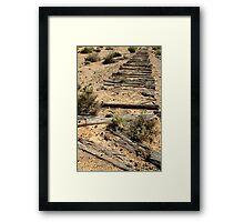 Ruins Old Ghan Railway,Oodnadatta Track Framed Print