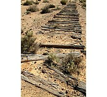Ruins Old Ghan Railway,Oodnadatta Track Photographic Print