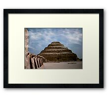 sakkara egypt Framed Print