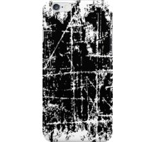 Scratched Black Surface iPhone Case/Skin