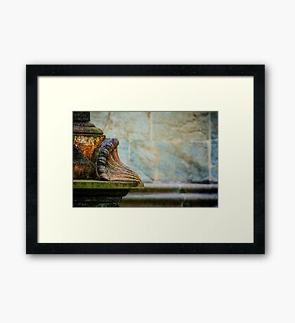 The Nidaros Cathedral in Trondheim, Norway. Framed Print