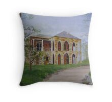 Stonework House on a Hill Throw Pillow