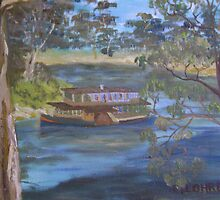 Paddleboat on the Murray by Debra Lohrere