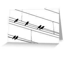 Rook Silhouettes Greeting Card