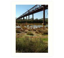 Argibuckle Bridge, Oodnadatta Track,Outback South Australia Art Print