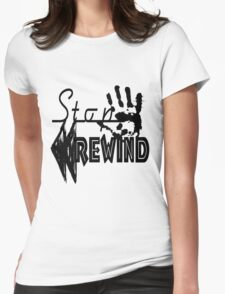 Stop, Rewind V2 Womens Fitted T-Shirt