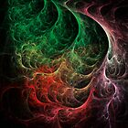 Abstract Art Space Fire by Vac1