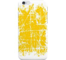 Scratched Yellow Surface iPhone Case/Skin