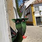 Goat Sculpture - Obidos, Portugal by Tony Jones