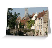 Bruges Old Town, Belgium Greeting Card