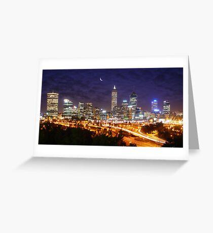 Perth's Night sky Greeting Card